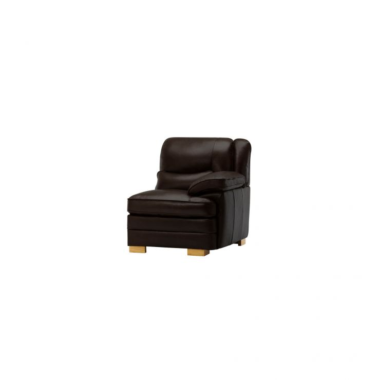 Modena Right Arm Module in Dark Brown Leather - Image 4