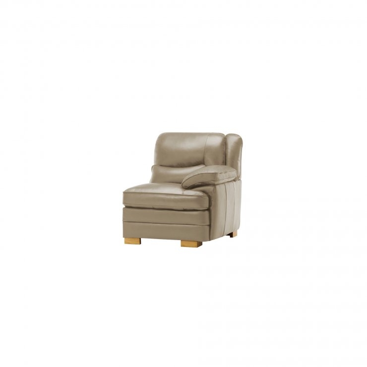 Modena Right Arm Module in Taupe Leather - Image 4