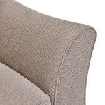 Monaco Armchair in Rich Mink Fabric with Pebble Scatters - Thumbnail 5