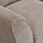 Monaco Armchair in Rich Mink Fabric with Pebble Scatters - Thumbnail 6