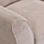 Monaco Left Hand High Back Corner Sofa in Rich Beige Fabric with Blush Scatters - Thumbnail 3