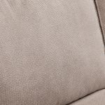 Monaco Left Hand High Back Corner Sofa in Rich Stone Fabric with Blush Scatters - Thumbnail 7