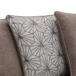 Monaco Left Hand Pillow Back Corner Sofa in Rich Mink Fabric with Pebble Scatters - Thumbnail 2