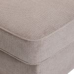 Monaco Left Hand Pillow Back Corner Sofa in Rich Stone Fabric with Blush Scatters - Thumbnail 3