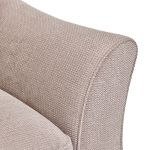 Monaco Right Hand High Back Corner Sofa in Rich Beige Fabric with Blush Scatters - Thumbnail 3