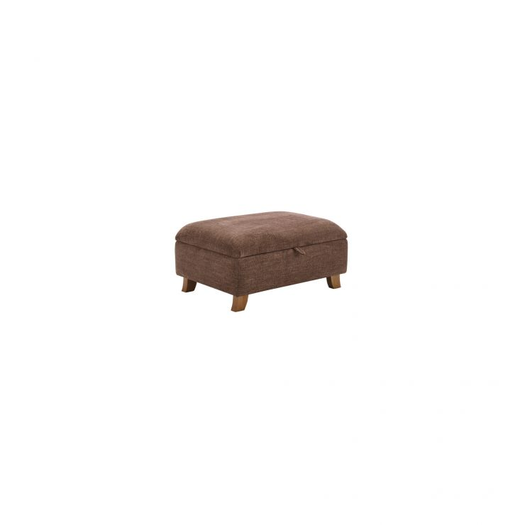 Montana Storage Footstool in Brown - Image 1