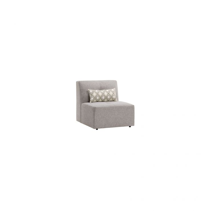 Monterrey Armless Module in Bennett Fabric - Grey - Image 3