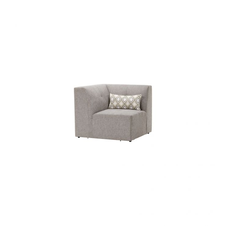 Monterrey Corner Module in Bennett Fabric - Grey