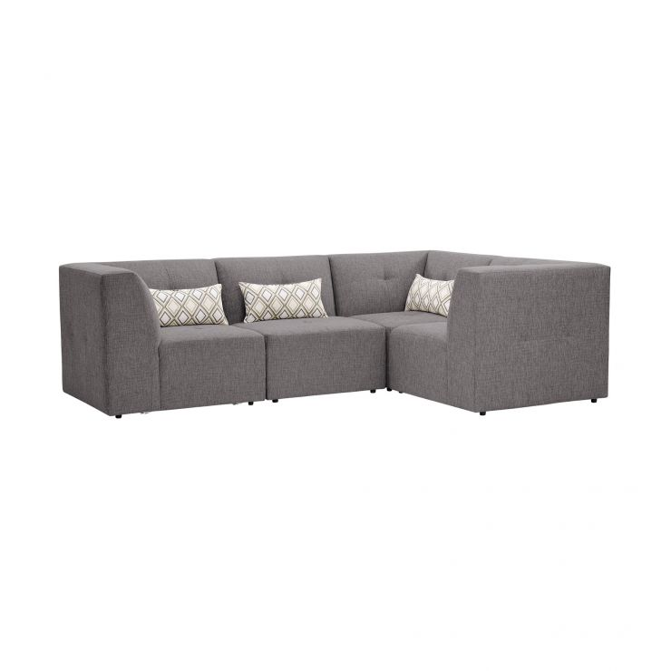 Monterrey Modular Group 2 in Bennett Fabric - Steel - Image 1