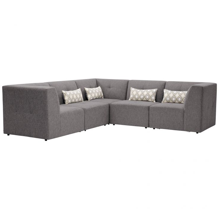 Monterrey Modular Group 3 in Bennett Fabric - Steel