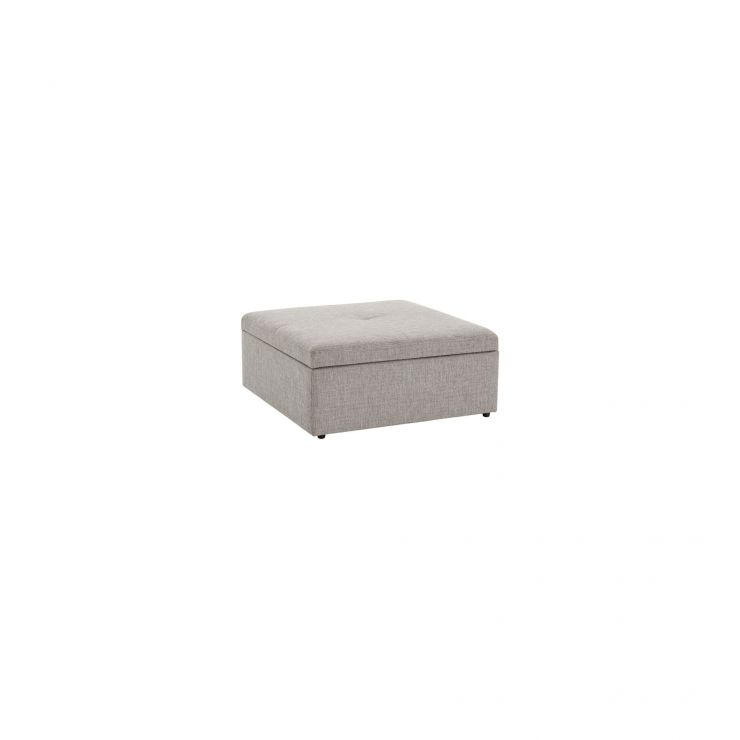 Monterrey Storage Footstool in Bennett Fabric - Grey - Image 1