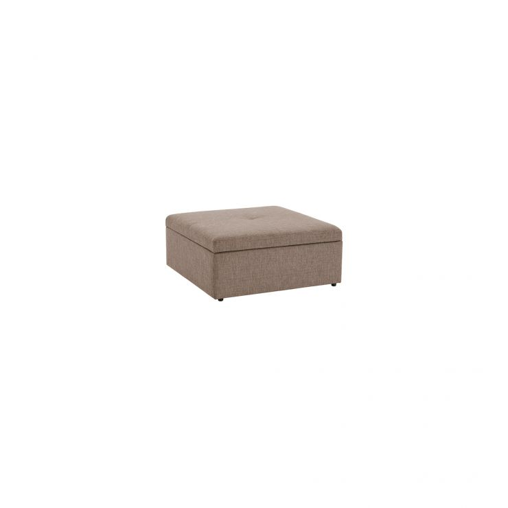 Monterrey Storage Footstool in Bennett Fabric - Mink