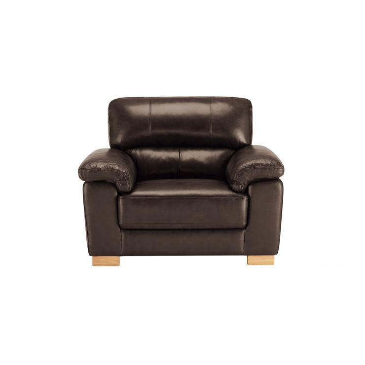 Monza Armchair - 2 Tone Brown Leather