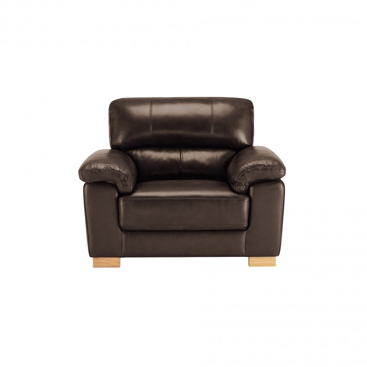 Monza Armchair - 2 Tone Brown Leather - Image 2