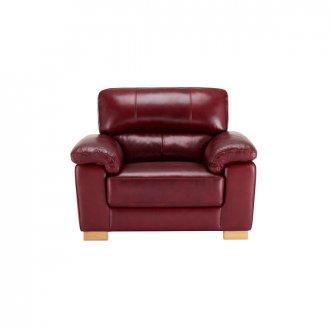 Monza Armchair - Burgundy Leather