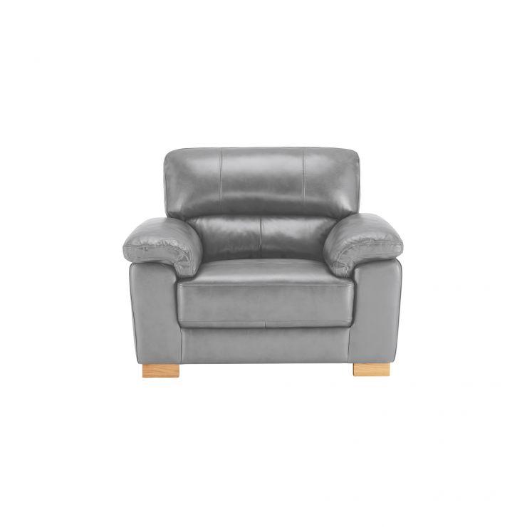 Monza Armchair - Dark Grey Leather - Image 1