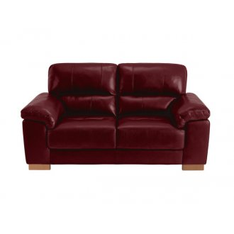 Monza 2 Seater Sofa - Burgundy Leather