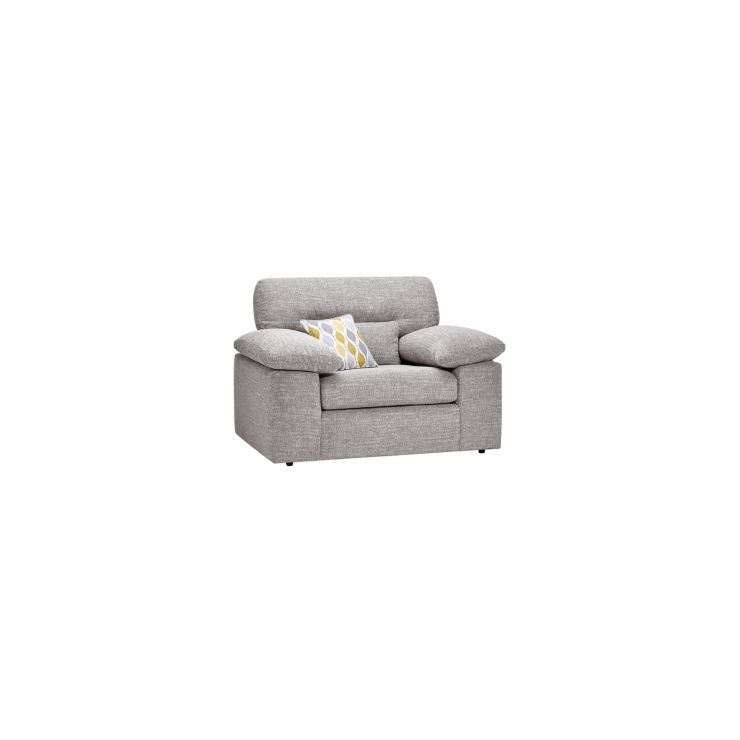 Morgan Armchair in Santos Silver - Image 1