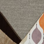 Morgan Modular Group 2 in Santos Mink with Orange and Beige Scatters - Thumbnail 2