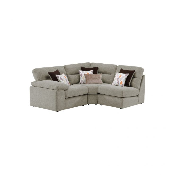 Morgan Modular Group 6 in Santos Mink with Orange and Beige Scatters
