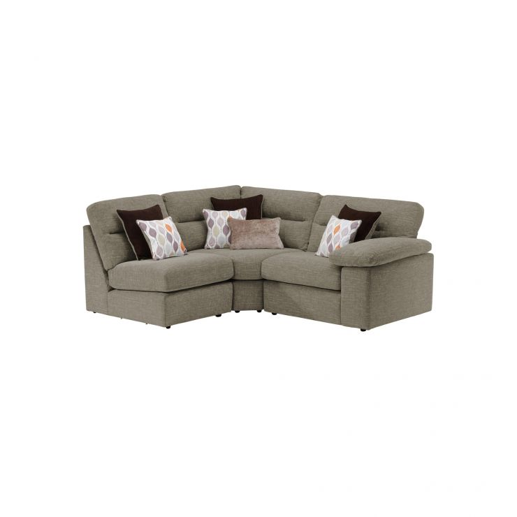 Morgan Modular Group 7 in Santos Taupe with Orange and Beige Scatters