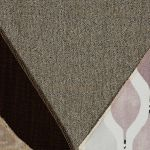 Morgan Right Arm Module in Santos Taupe with 2 Orange and Beige Scatters - Thumbnail 2