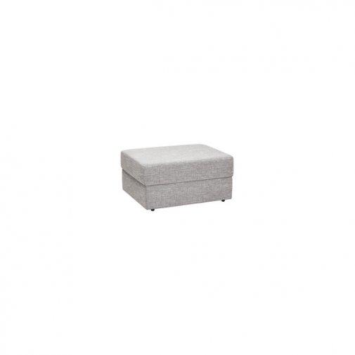 Morgan Storage Footstool in Santos Silver