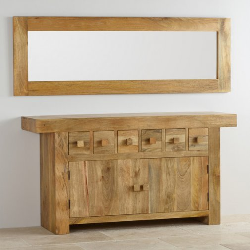 Natural Solid Light Mango 1800mm x 600mm Wall Mirror