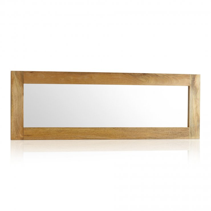 Natural Solid Light Mango 1800mm x 600mm Wall Mirror - Image 4