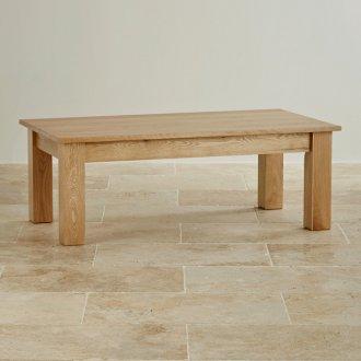 Natural Solid Oak Minimalist Coffee Table