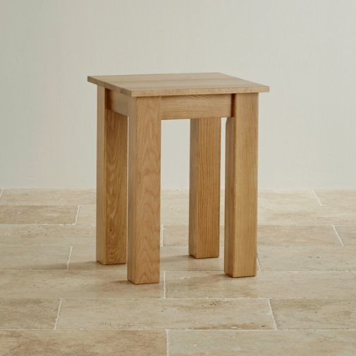 Natural Solid Oak Minimalist Lamp Table