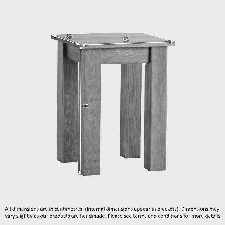 Natural Solid Oak Minimalist Lamp Table