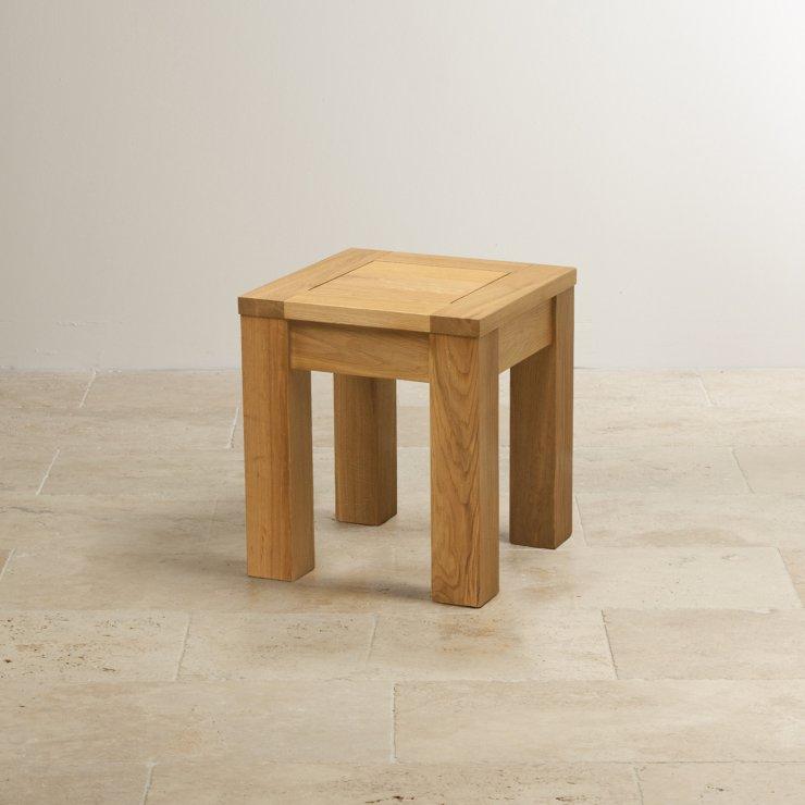 Natural Solid Oak Square Stool