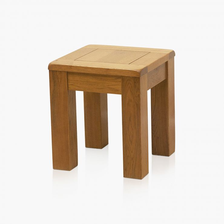 Natural Solid Oak Square Stool