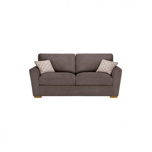 Nebraska 3 Seater High Back Sofa - Aero Charcoal
