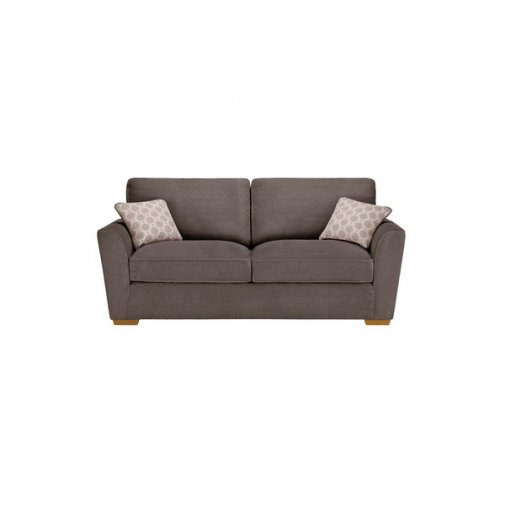 Nebraska 3 Seater High Back Sofa - Aero Charcoal
