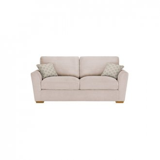 Nebraska 3 Seater High Back Sofa - Aero Fawn with Duck Egg Scatter