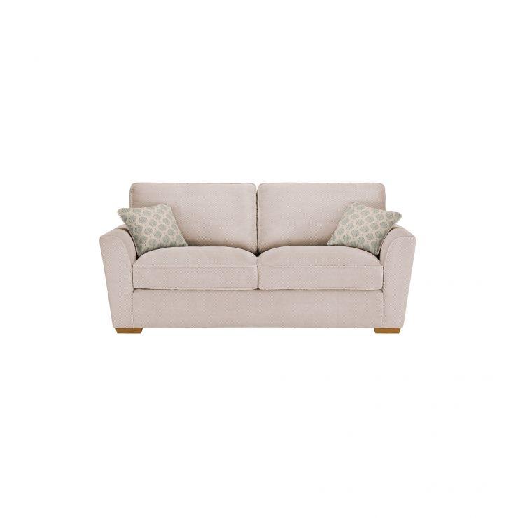 Nebraska 3 Seater High Back Sofa - Aero Fawn with Duck Egg Scatter