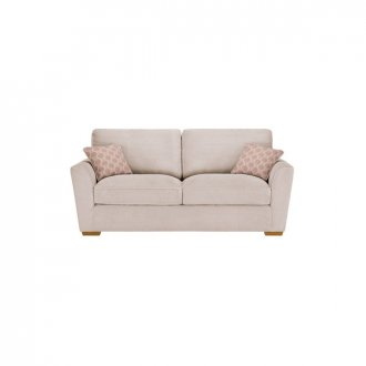 Nebraska 3 Seater High Back Sofa - Aero Fawn with Rose Scatter