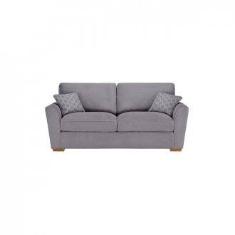 Nebraska 3 Seater High Back Sofa - Aero Silver