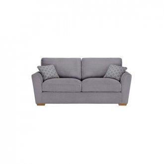 Nebraska 3 Seater High Back Sofa - Aero Silver