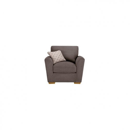 Nebraska Armchair - Aero Charcoal with Silver Scatter