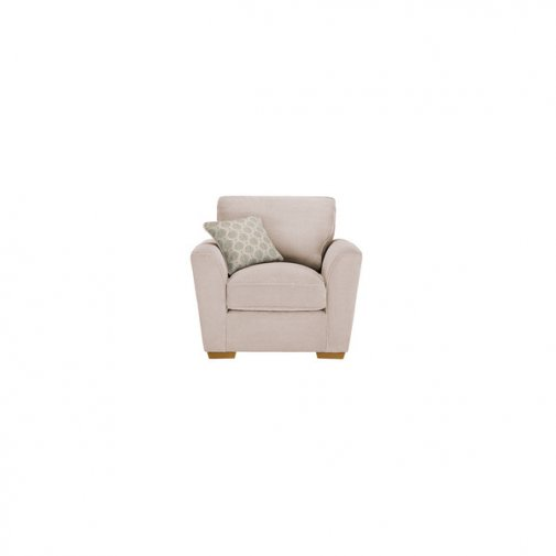 Nebraska Armchair - Aero Fawn with Duck Egg Scatter