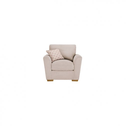 Nebraska Armchair - Aero Fawn with Rose Scatters