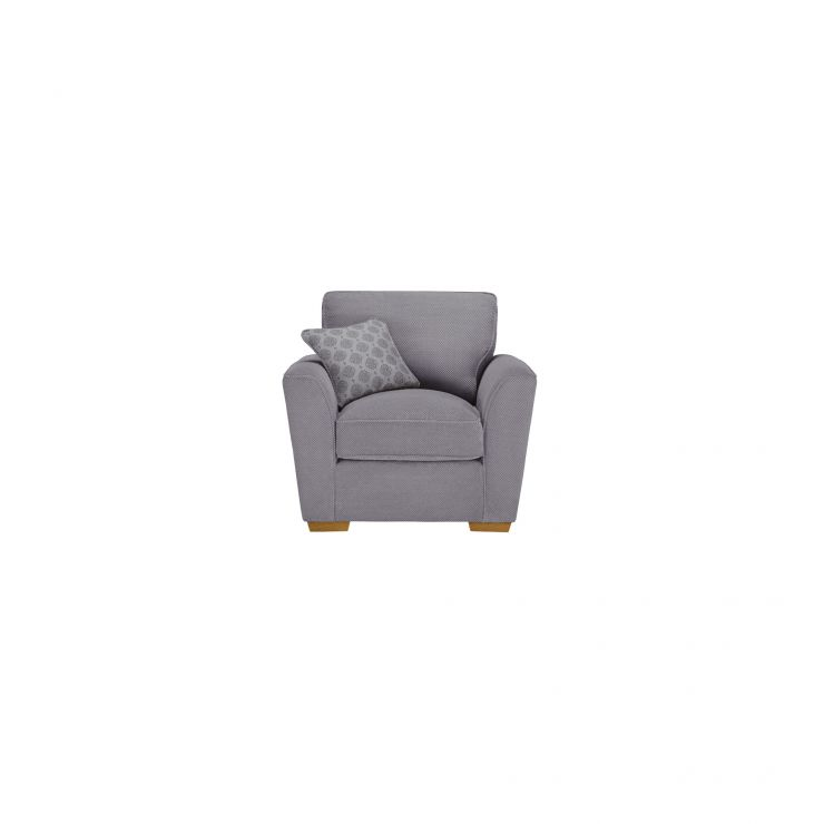 Nebraska Armchair - Aero Silver with Silver Scatters