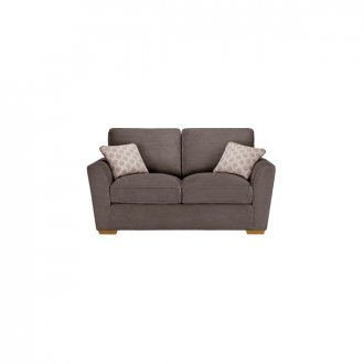 Nebraska 2 Seater High Back Sofa - Aero Charcoal with Silver Scatters