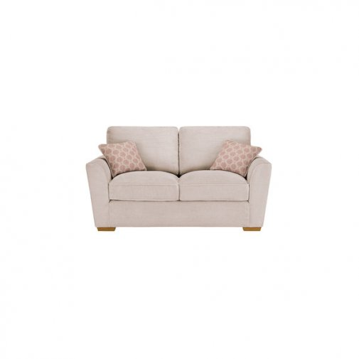 Nebraska 2 Seater High Back Sofa - Aero Fawn with Rose Scatters