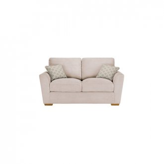 Nebraska 2 Seater High Back Sofa - Aero Fawn with Duck Egg Scatter