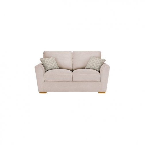 Nebraska 2 Seater High Back Sofa - Aero Fawn with Duck Egg Scatter