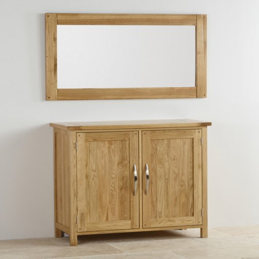 Newark Natural Solid Oak 1200mm x 600mm Wall Mirror